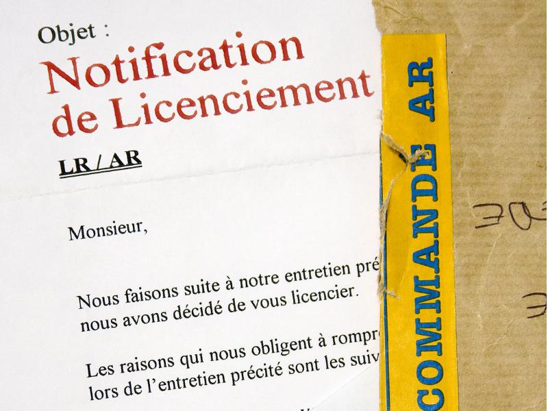 Pas de transaction sans notification de licenciement par lettre recommandée